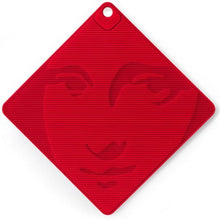 Mona Lisa Silicone Grip and Trivet Red
