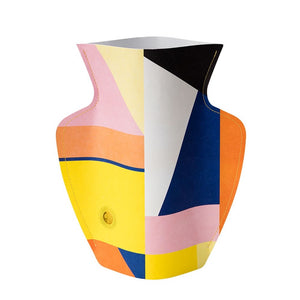Multicolored paper vase cover by Florentina.