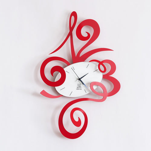 Arti & Mestieri Wall Clock Robin Red