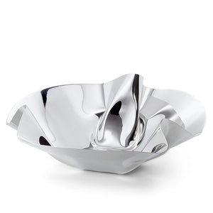 Large bowl stainless steel, mirror-polished, folded by hand