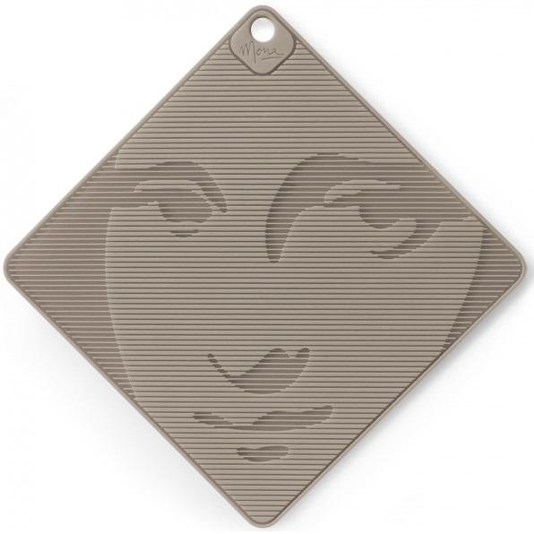 Mona Lisa Silicone Grip and Trivet Grey