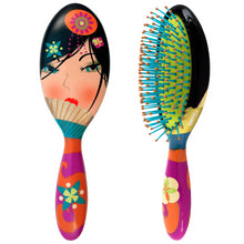Large colorful hairbrush with a fun design
