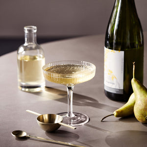 Ripple Champagne Saucer Set/2