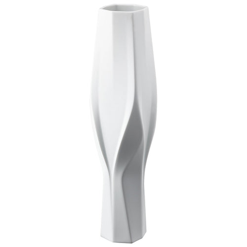 Rosenthal Vase Collection by Zaha Hadid Weave, Tall White (2019)