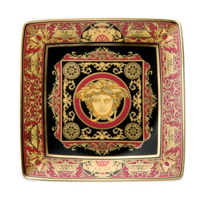 Rosenthal Versace Medusa Red Canape Dish
