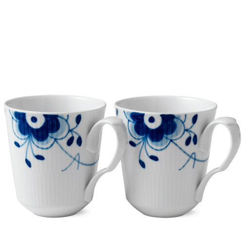 Royal Copenhagen Blue Fluted Mega Mug Set/2 (12.25 oz)