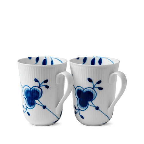 Royal Copenhagen Blue Fluted Mega Mug Set/2 (11 oz)
