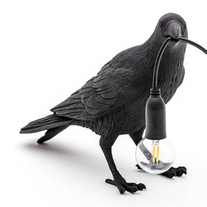 seletti bird lamp waiting black