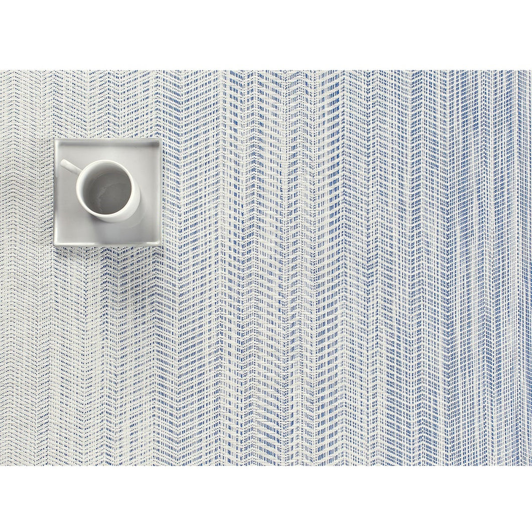 Chilewich Wave Blue Rectangle 14
