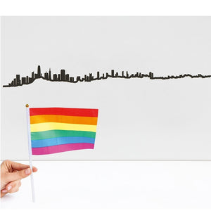 "The Line 19.5"" City Skyline Silhouette San Francisco"