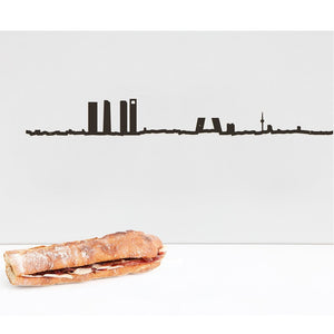 "The Line 19.5"" City Silhouette Skyline Madrid"