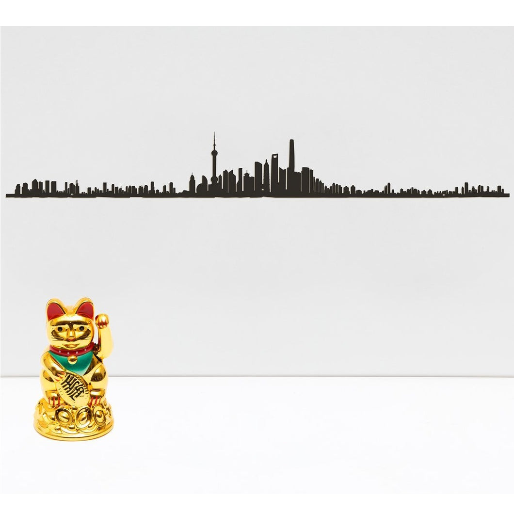 The Line City Skyline Silhouette Shanghai