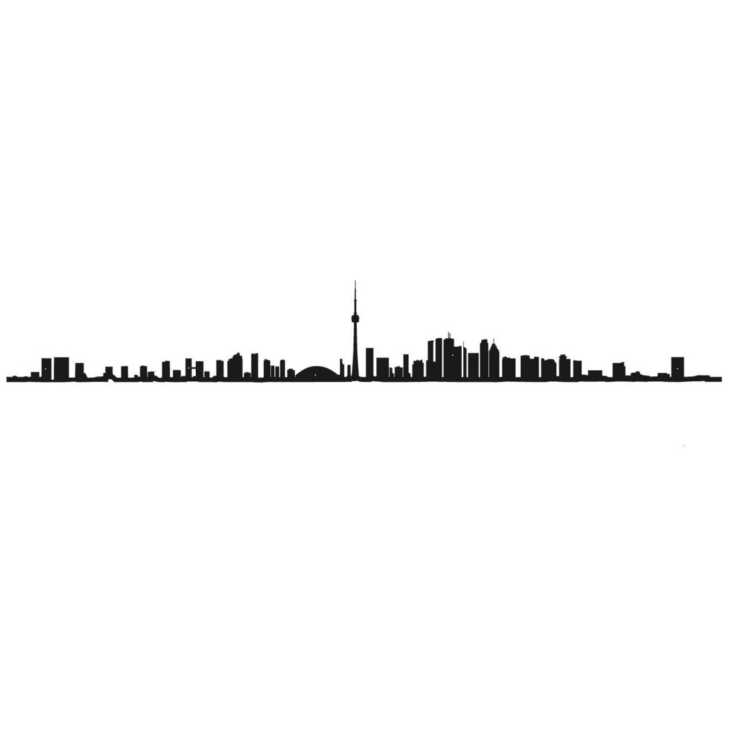 "The Line 19.5"" City Silhouette Skyline Toronto"