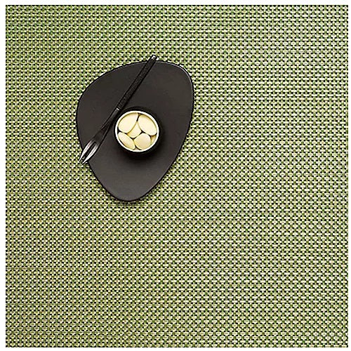 Chilewich Basketweave Square Placemat Grass Green