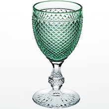Vista Alegre Bicos Bicolor Goblet Set/2 Mint Green Top