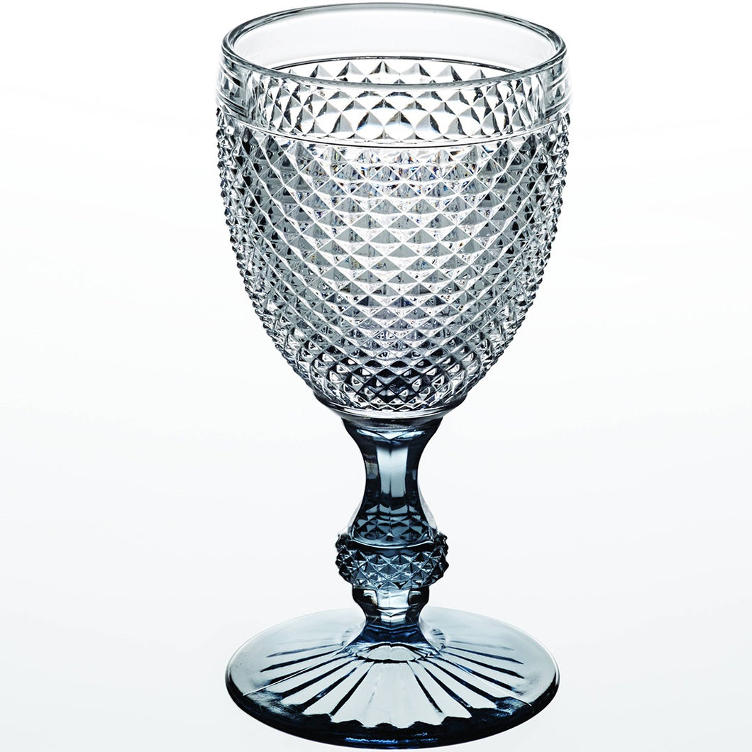 Vista Alegre Bicos Bicolor Goblet Set/2 Grey Stem
