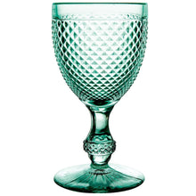 Vista Alegre Bicos Water Goblet Set/4 Green Mint