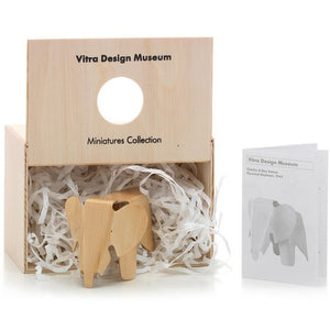 "A miniature version of the original plywood Eames Elephant. Approx 5"" tall."