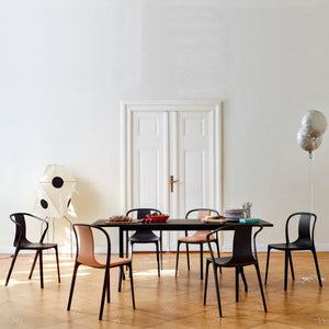 Vitra Belleville Armchair Wood Dark Oak