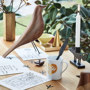 Vitra Eames House Bird in Walnut Wood