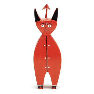 Made of hand-painted solid fir wood, the little devil brings a smile on the face of every viewer.