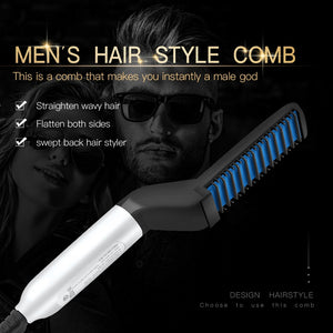 Multifunctional Hair Comb Beard Straightener For Men