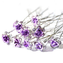 Load image into Gallery viewer, Bridal Crystal Barrettes