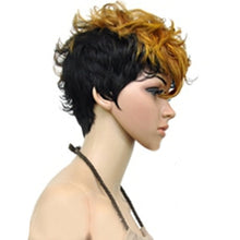 Load image into Gallery viewer, Double Color Short Curly Wig