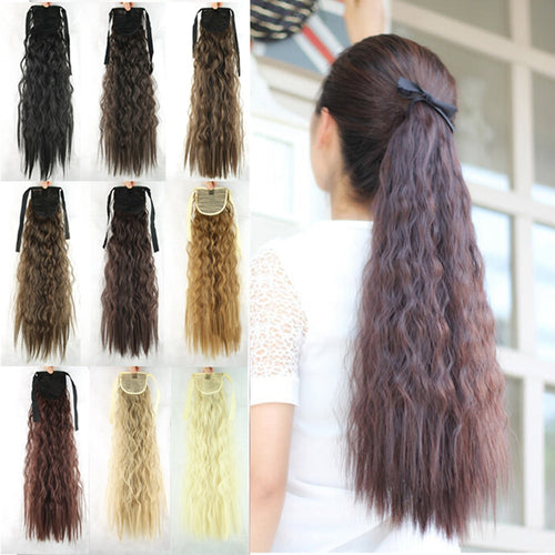 Fiber Synthetic Drawstring Ponytails