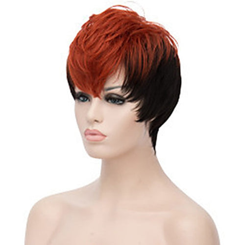 Double Color Short Curly Wig