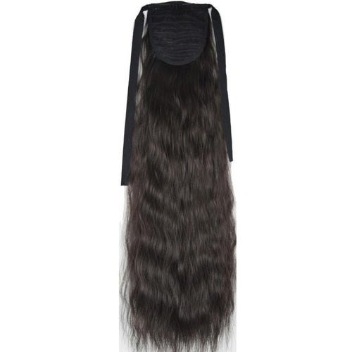 Fiber Kinky Straight Ribbon Ponytail Hair