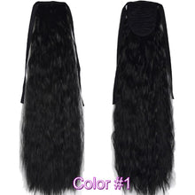 Load image into Gallery viewer, Fiber Kinky Straight Ribbon Ponytail Hair