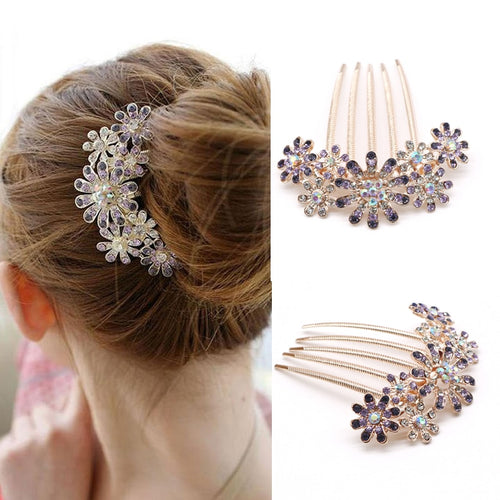 Fashion Crystal Flower Clips
