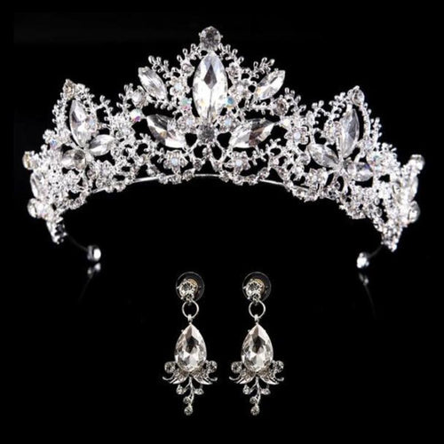 Bridal Crown with Earrings