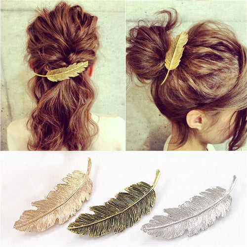 Metal Leaf Hair Clip Barrettes accessories