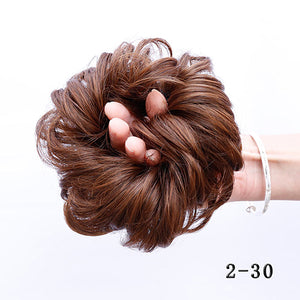 Curly Hairpiece Extension Bun