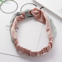 Load image into Gallery viewer, Simple Cross Bow Patchwork Headband