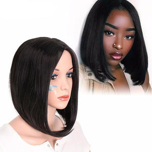 Synthetic Short Fiber Straight Wig