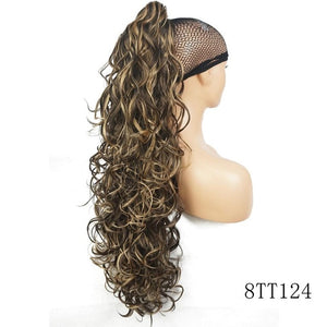 Long Curly Claw Clip Ponytail Hair