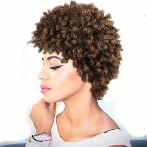 High Density Temperature Synthetic Wigs