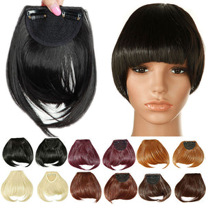 Synthetic Clip In Blunt Bangs
