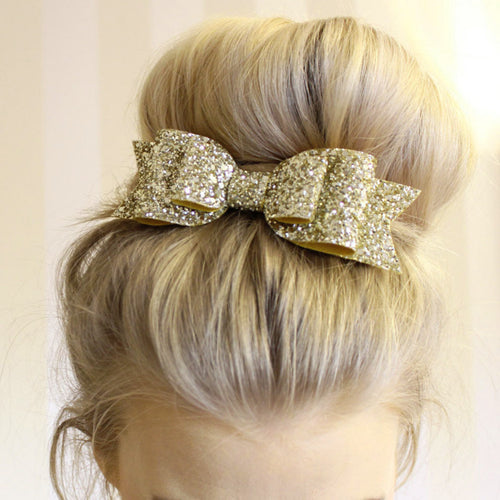 Glitter Shiny Sequins Bowknot Clip