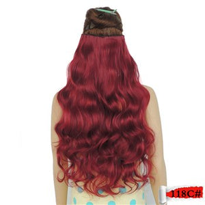 Long False Hair Clip Hair Extensions
