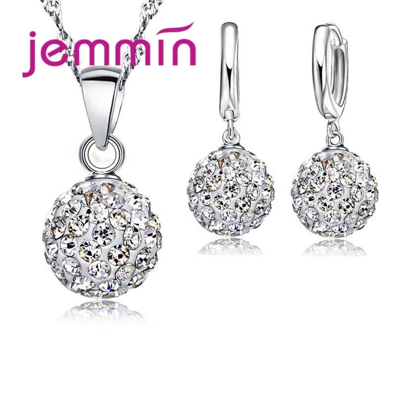 Big Promotion Sterling Silver Crystal Earring