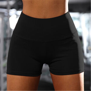 Hot Women Casual Solid Elastic High Waist Push Up Shorts