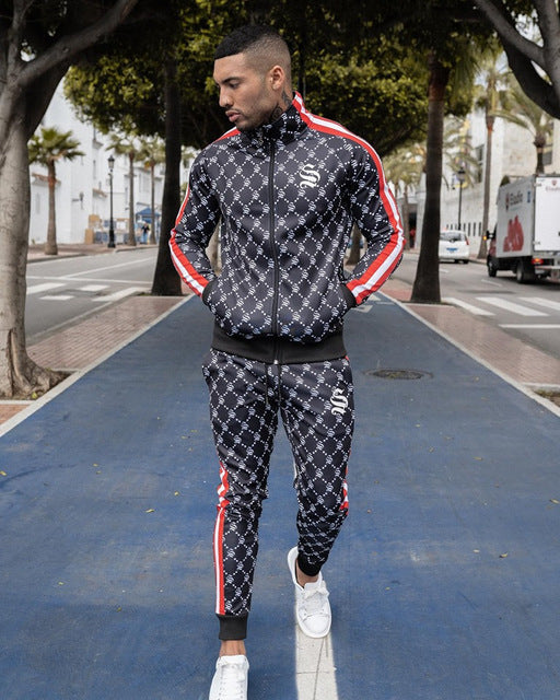 Men new style tracksuit vertical collar