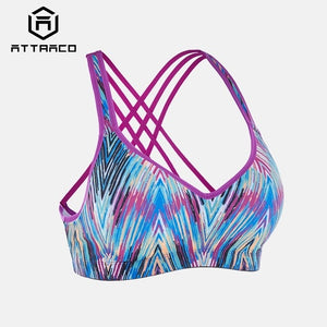 Attraco Women Sports Bra Med Impact Support
