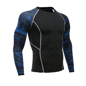 Men Fitness Long Sleeve Cycling Base Wear Men Bodybuilding