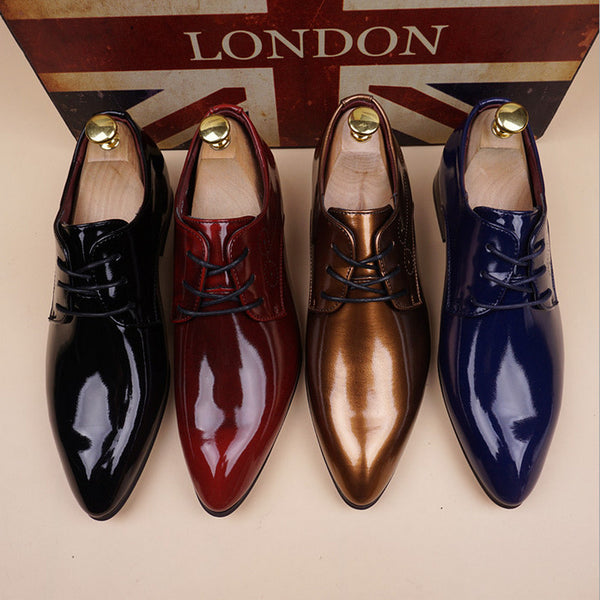 Patent Leather Shoes Men Vintage For Men