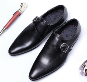 Men Italian Oxfords Leather Classic Shoes